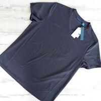 Perry Ellis Men XL Black Moisture Wicking Breathable V-Neck T-Shirt MSRP $40