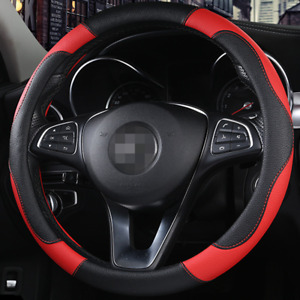 Car Steering Wheels Cover Leather Non-slip Good Grip Universal 15in Accessories