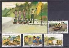 Dominica postfris 1982 MNH 791-794 + blok 78 - Scouting (S1811)