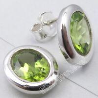 925 Stamp Pure Sterling Silver Gift Jewelry Peridot 2.6 tcw Ear Stud Earrings