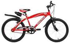 "Hacker Senza 20"" Wheel Boys Kids Mountain Bike Red Mudguards & Water Bottle 7+"