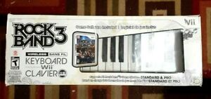 Nintendo Wii Rock Band 3 Keyboard With Clavier Boxed No Dongle