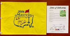 ARNOLD PALMER + JACK NICKLAUS + GARY PLAYER Signed 2006 MASTERS FLAG PSA/DNA LOA
