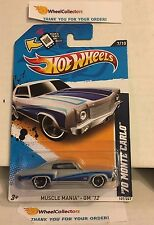 '70 Monte Carlo #107 * Silver Walmart Only * 2012 Hot Wheels * Y56