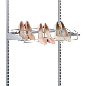 EUC $45 Platinum Elfa Container Store 2' gliding shoe rack
