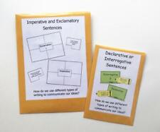 2 Teacher Made Literacy Learning Resource Center Games Types of Sentences