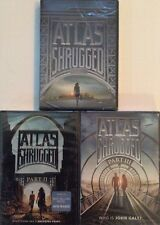 Atlas Shrugged Part I, II, And III (DVDs) Brand New/Sealed 1 2 3  1-3 Ayn Rand
