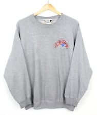 Puma Vintage New England Patriots Mens Chest Logo Spell Out Grey Sweatshirt L