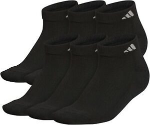 adidas 254063 Women's Low Cut Sock Shoe Black/ Aluminum 2 Size 5-10