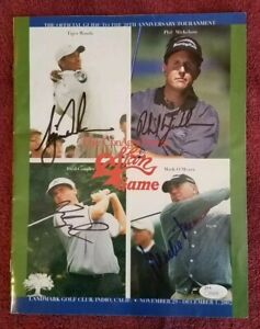 TIGER WOODS Phil Mickelson Couples Signed 2002 JSA Autograph Golf Skins Program