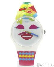 New Swiss Swatch So Frutti Multi-Color Women Silicone Watch 41mm SUOW121 $80