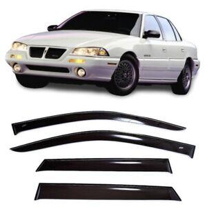 For Pontiac Grand Am 1992-1998 Side Window Visors Sun Rain Guard Vent Deflectors