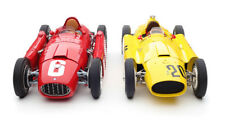 2 PC FERRARI D50 #20 YELLOW GP BELGIUM & LANCIA D50 #6 RED GP TURIN 1/18 CMC 184