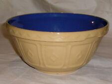 Mason Cash & Co. - 30 Cane Mixing Bowl - 2 Quart - Tan Outside, Blue Inside