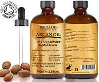 ARGAN OIL 100% Cold Pressed Pure Certified Organic Moroccan Argan Oil 100ml NEW