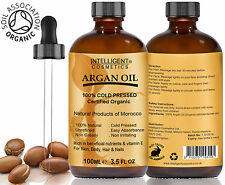 ARGAN OIL Pure Moroccan 100% Cold Pressed Argan Oil Certified Organic Two Sizes