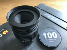 CANON FD 100mm MACRO 4  - EF mount - Simmoded with 0.8 focus gear an custom lase