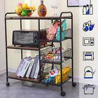 Kitchen Rack Microwave Oven Stand Storage Rolling Cart Shelf Organizer Wheels  photo