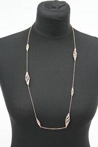 LINKS OF LONDON Ladies Rose Gold Vermeil Woven Sautoir Necklace RRP490 NEW