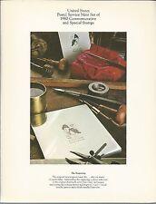 1980 US POSTAL SERVICE MINT SET OF COMMEMORATIVE POSTAGE STAMPS 4 BLCKS  12 SNGS