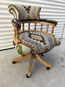Vintage Rug Captains Office Chair Kelim