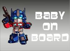 Optimus Prime Baby on Board / Transformers / Vinyl Vehicle Kids Window Graphics
