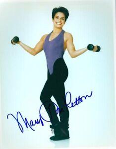 Mary Lou Retton Signed Color 8x10 Glossy Photo Olympics 5x Gold Gymnastics COA