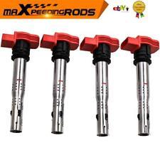 4x Ignition Coil Packs for Audi R8  S3 VW TT A4 A5 A6 2.0L Golf Skoda 06E905115E