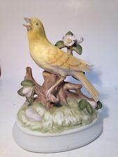 "Gorham Porcelain Canary Vintage Music Box ""Somewhere My Love"" Song, Japan"
