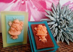 Christmas Santa 2 Handmade Natural Soaps, Kids Children Gift, Scent Lavender