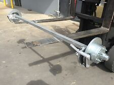 NEW GALVANIZED 45MM SQ 1400KG HEAVY DUTY COMPLETE TRAILER AXLE SUIT BOAT BOX CAR