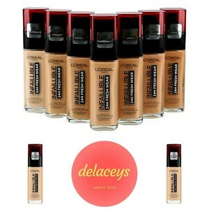 L'OREAL INFALLIBLE 24H STAY & FRESH Wear Foundation - FULL COVERAGE, LONG WEAR