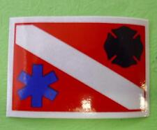 DIVERS STAR OF LIFE AND FIRE DEPT MALTESE CROSS DECAL STICKER