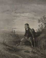 1872 Antique Engravings - Gustave Dore - 4 London Scenes - Greenwich & Highgate