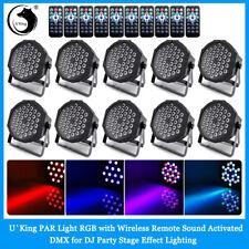 10Pcs 36 Led Stage Lighting Rgb Par Dmx Remote Dj Disco Party Light Uplighter Us