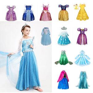 Kinder Sofia Kostüm Kleid Prinzessin Tüllkleid Partykleid Verkleidung Kostüm Neu