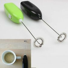 Drinks Milk Frother Foamer Whisk Mixer Egg Beater Electric Mini Handle Stirrer
