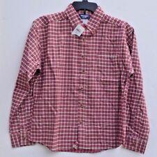 Wrangler Sport Plaid Button Down BOYS Size 20 XL Shirt,  Red NWT