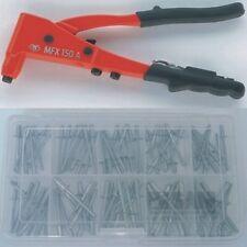 Blindnietenzange Handnietzange MFX 150A + 100tlg Edelstahl Blindnietenset
