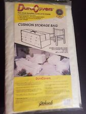 NEW Richards Homewares White Vinyl Cube Outdoor Cushion Storage Bag 46 X 22 X16