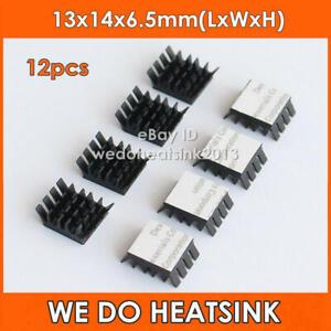 12pcs Black Aluminum Heatsink Adhesive Tape Applied For Memory RAM IC Chipset