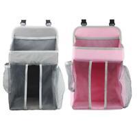 #QZO Baby Crib Hanging Bags Portable Bedside Organizer Diaper Storage Bag Box