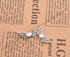 20Pcs Tibetan Silver Heart Angel Wings Loose Spacer Beads Jewelry 22X9MM Z57