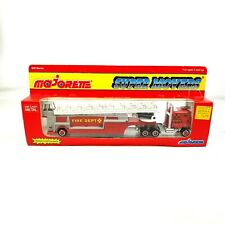 Majorette Super Movers Fire Engine FDNY 55 Red 1:87 HO Diecast Model Truck