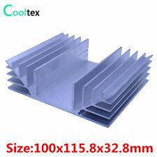 100x115.8x32.8mm Radiator Aluminum Heatsink Extruded Heat Sink Cooler Cooling