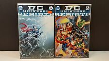 LOT 2 DC UNIVERSE REBIRTH #1 1st PRINT ONE-SHOT 2016 COMIC + MIDNIGHT VARIANT NM