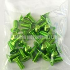 "(30 Pack) M6 X 15mm ""liquidación"" de cabeza avellanada aleación Pernos anodizado Pin (verde)"
