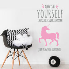 Unicorn Quote Princess Nursery Girl Bedroom Wall Sticker Decal Decor