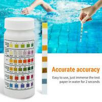 50x Wasser Teststreifen 6 in 1 für Pool Schwimmbad Teich Aquarium PH Chlor Brom