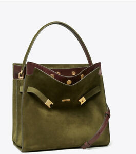 Tory Burch LEE RADZIWILL suede DOUBLE BAG $998